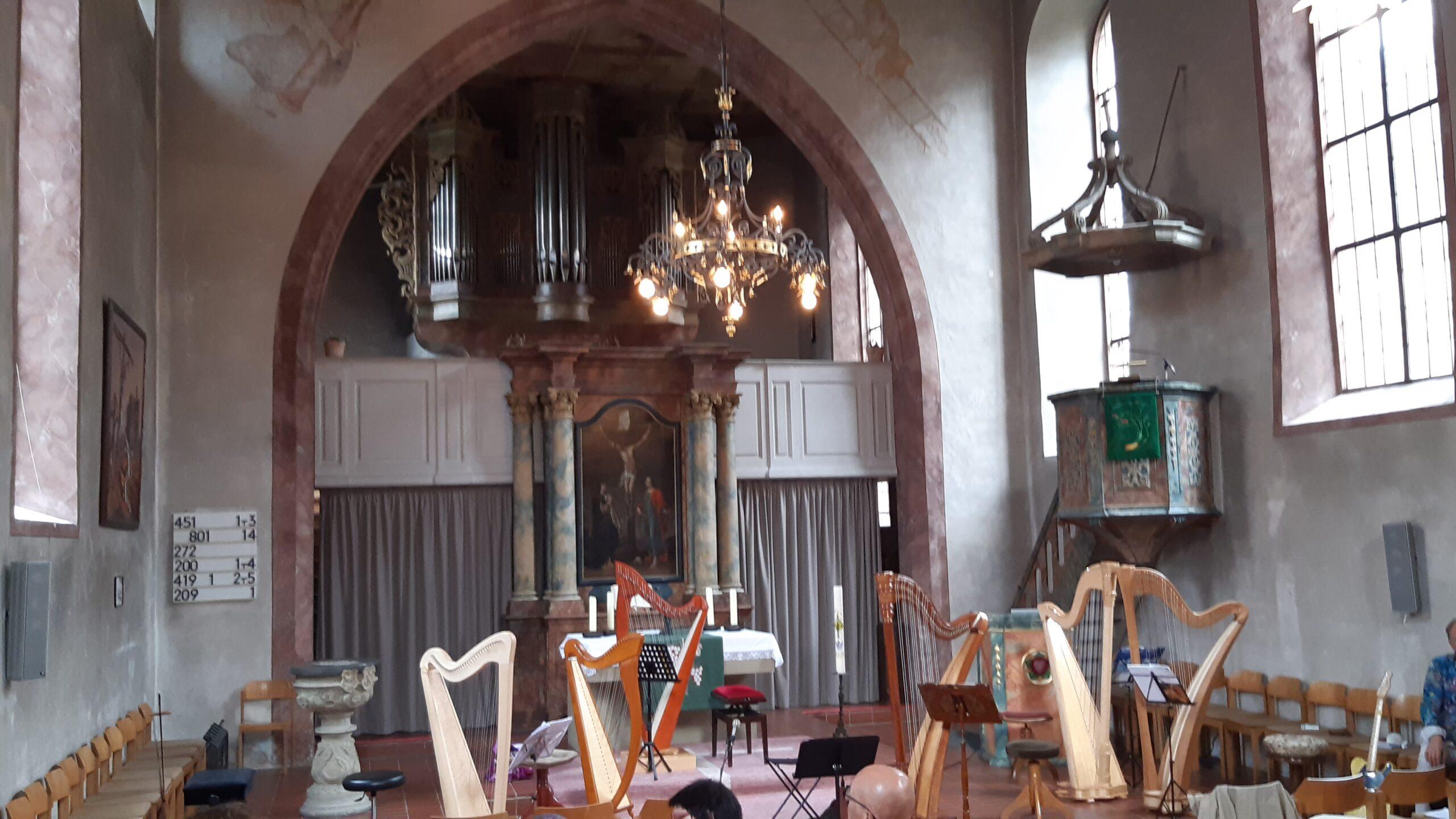 Schülerkonzert der Harfenklasse von Frau Julia Rosenberger in der St. Stephan Kirche Marktsteft